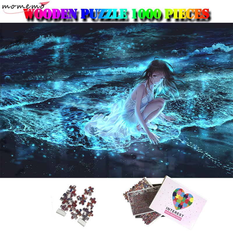 MOMEMO Seaside Jigsaw Puzzle Customized Beautiful Anime 1000 Pieces Puzzle Adults Personality High Definition Puzzle Toys Gifts