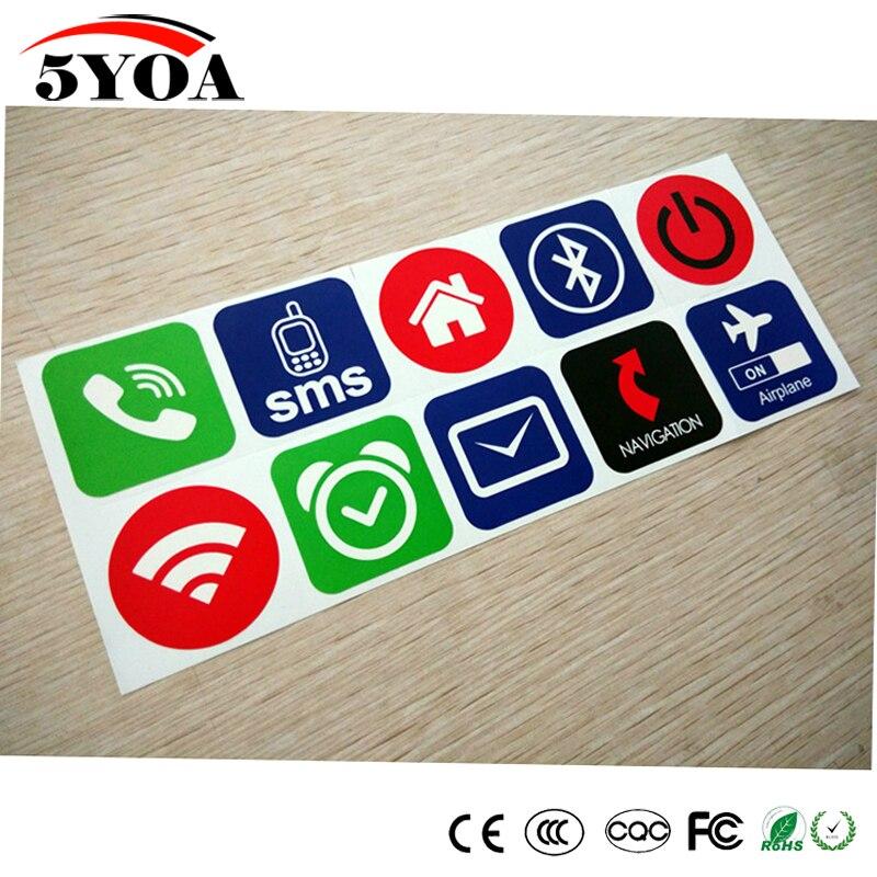 10pcs/lot NFC Tags Stickers NFC213 13.56mhz Label Rfid Tag Card Adhesive Key Tags Llaveros Llavero Token Patrol