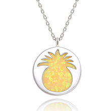 2019 New Sale Opal Pendant Necklace Silver Pineapple Fruit environmentally copper womens necklace