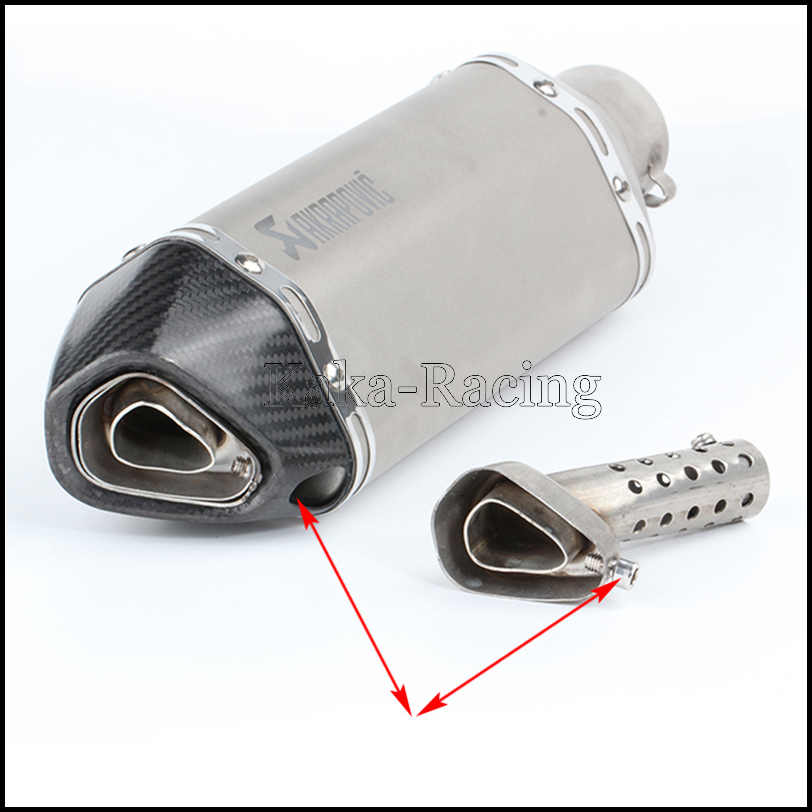 Motorcycle Exhaust Pipe Muffler Adjustable Db Killer Silencer Universal 36/57MM for Yoshimura Akrapovic KTM Ducati Yamaha Honda