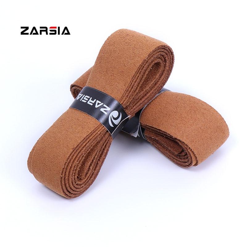 4pcs 2018 ZARSIA Abra Imitation Leather Sweatband Tennis Racket Grip Thick Black Leather Handle Grip For Tennis Racket