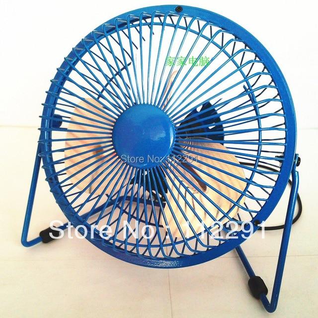 Free Shipping 1Pcs/lot Blue Super USB Mini Portable fan Cooling Ideal for Laptop, PC, Mac, Apple