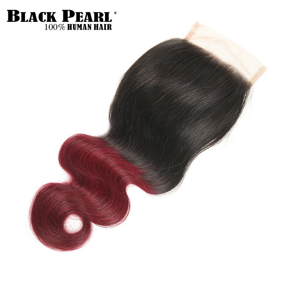 StyleIcon Pre-Colored Ombre Body Wave paquetes de cabello humano con - Cabello humano (negro) - foto 4