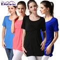 Emoción Mamás ropa de Verano de maternidad ropa para mujeres embarazadas de maternidad tops lactancia materna la lactancia materna de enfermería Camiseta tops