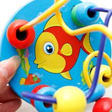 Baby & Toddler Bead Wire Maze Roller Coaster Wooden Educational Toy