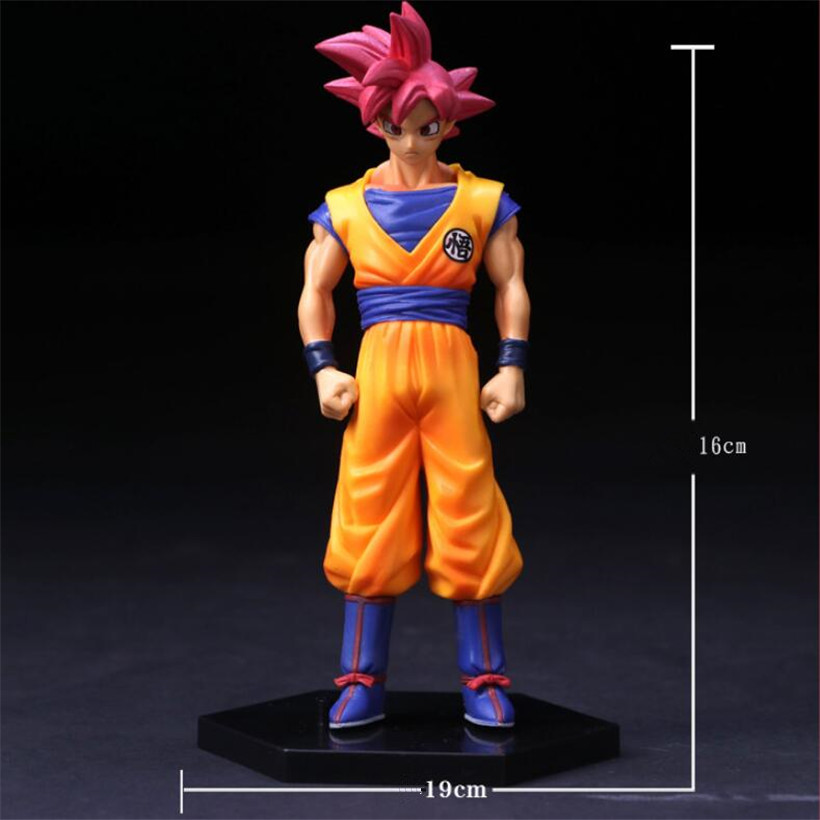 16 CM Cartoon Anime Dragon Ball Red Hair Goku PVC Toys Action Figure Model Juguetes Kids Toys Best Collection Gifts
