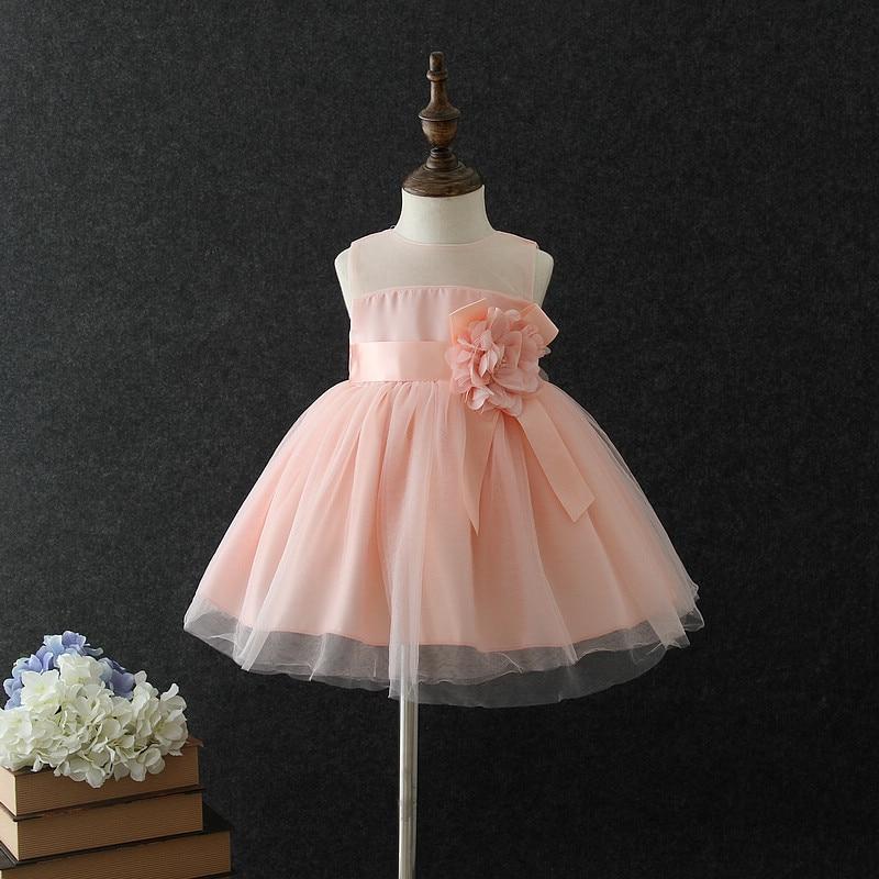 Fantastic Scoop Sleeveless Hand Made   Flower   Accessory   Flower     Girls     Dresses   Tea-Length Little   Girl   Party   Dresses