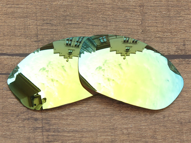 24K Golden Mirror Polarized Replacement Lenses For Straight Jacket ...