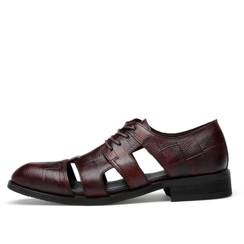 D'affaires Sapatos De Masculino À Noir D'été Hommes Robe Chaussures Brun marron Oxford En Évider Formelle Appartements Véritable Noir Mariage Lacets Cuir dCBWEeQrxo