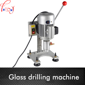 Simple small glass drilling machine Portable glass perforator Single arm glass drilling machine 220V 1PC