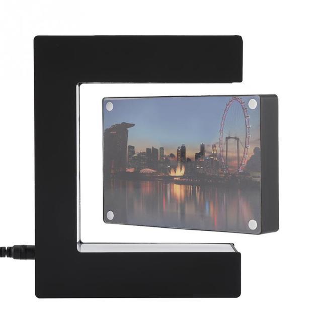 Electronic Magnetic Levitation Floating Photo Frame with LED Lights Novelty Gift Home Decoration Pictures Frames