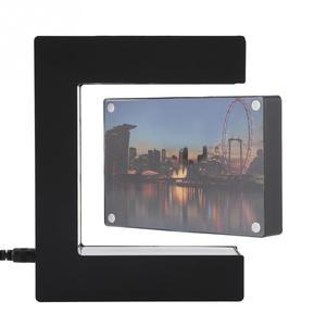 Image 1 - Elektroniczna lewitacja magnetyczna pływająca ramka na zdjęcia z oświetleniem LED nowość prezent obrazy do dekoracji mieszkania ramki