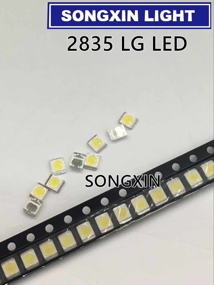 2000 шт./лот для LG SMD светодиодный 3528 2835 1 Вт 3 в холодный белый для ТВ/ЖК-подсветки