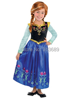 Retail Frozen Anna Dress Girl Princess Dress Summer Longsleeve Dress Elsa Costume Anna Girl Dress Kids