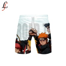Naruto 3D New Beach Shorts Uomini Gonne e Pantaloni Anti-Uv Shorts di Nuoto di Stampa SurfinMg Shorts Estate Draw String Elastico In Vita Corta(China)