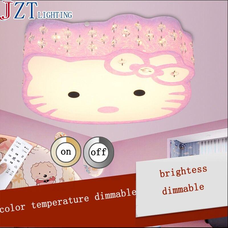 z bonjour kitty chat lumire plafonniers luminaire mignon led lampe fille chambre plafond lampe enfant salon - Lustre Hello Kitty Chambre