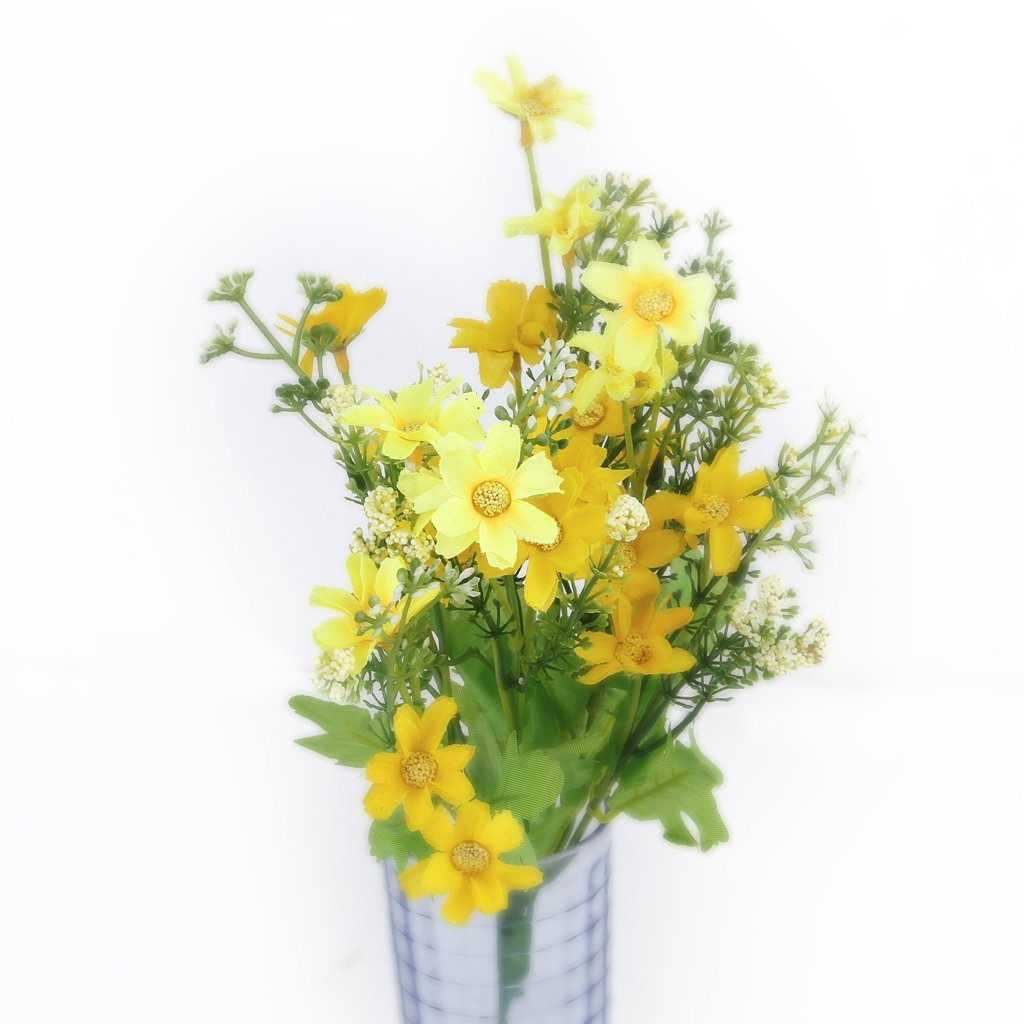 Hgho 1 bouquet of cineraria fake bouquet of artificial flowers for hgho 1 bouquet of cineraria fake bouquet of artificial flowers for home decor office yellow in artificial dried flowers from home garden on izmirmasajfo