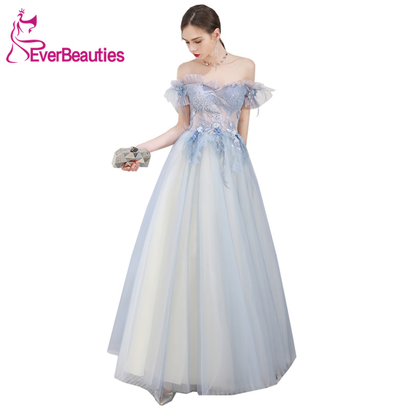 Vestido De Festa   Evening     Dress   Long 2019 Tulle Appliques   Dress   For Party Robe De Soiree Formal   Dress     Evening   Gowns