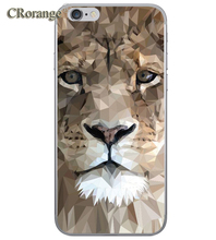 Phone Case For Apple iPhone 7 Plus 6s Plus 4 4S 5 5S SE 5C Soft TPU Silicon Transparent Cover noble Black bear Animal lion Cases