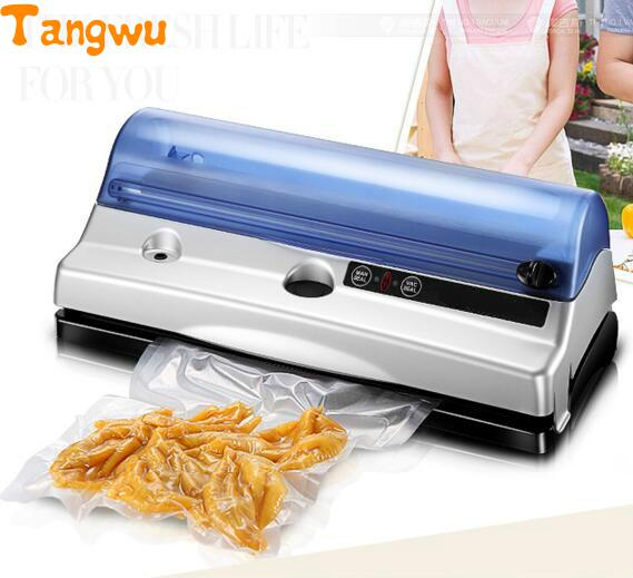Free shipping Full automatic dry wet food vacuum machine for small household sealing Vacuum Food Sealers free shipping full automatic dry wet dual purpose small household vacuum sealing machine plastic commercial food packaging