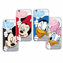Cute Minnie Mickey Cartoon Donald Duck Daisy Soft Phone Case Fundas Coque For iPhone 7 7Plus 6 6S 6Plus 5 5S SE 5C 4 SAMSUNG