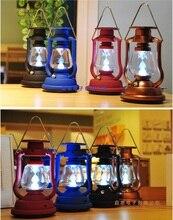 Solar Camping Lantern,hand crank dynamo,7 LED torch light flashlight led camping/fishing lanterns Mountaineering adventure