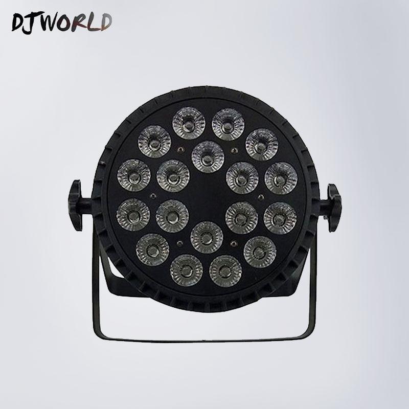 18x12W RGBW 4in1 Aluminum alloy shell LED Flat Par LED Luxury DMX Led Par Lights dj lighting led par light 4pcs 18x12w led par lights with 1 flight case led par light rgbw 4in1 led par led luxury dmx 6 8 channels led flat par lights