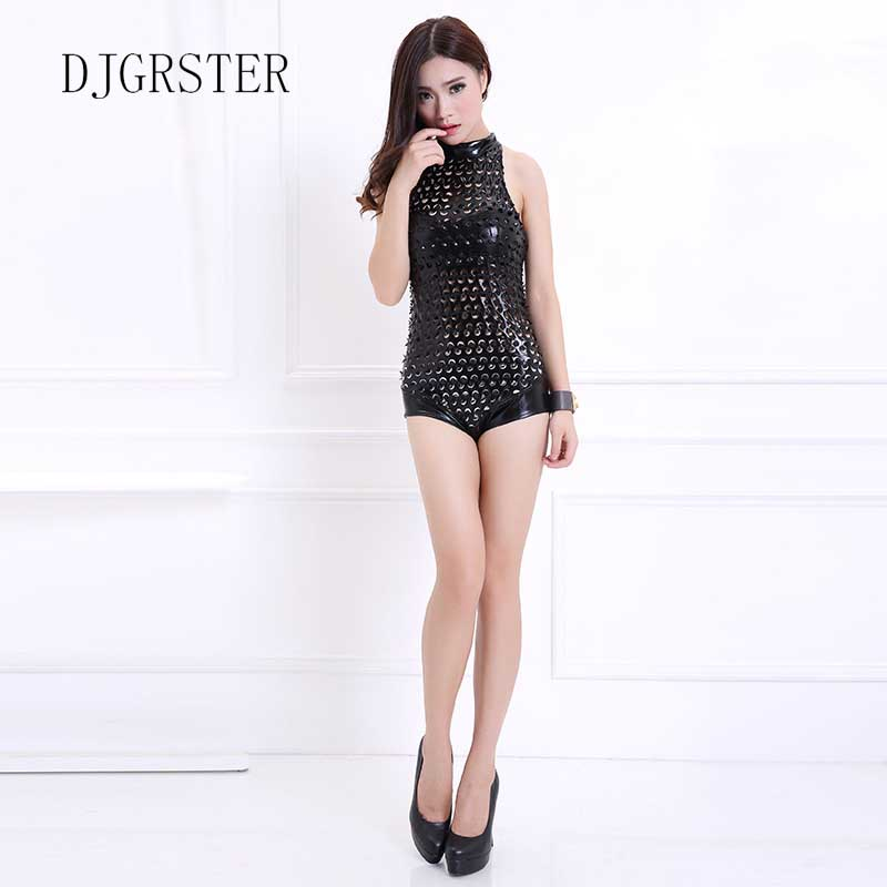 DJGRSTER New 2019 Hot Sale Lady Women Sexy Nightclub holes Jumpsuits Singer Jazz Hip Hop Dance Costumes Beyonce Bodysuit