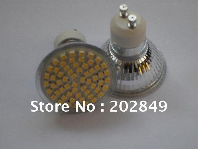 Low price LED SpotLight GU10 SMD 60pcs 3528 100% Cree chip Warm/pure White Bulb Lamp 5w