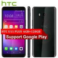 Di marca Originale HTC U11 Più U11 + Del Telefono Mobile 6GB di RAM 128GB di ROM Snapdragon835 OctaCore 6.0 pollici 1440x2880px android 8.0 IP68 NFC