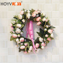 HOYVJOY Spring decoration  garland christmas wreath decorations Rose