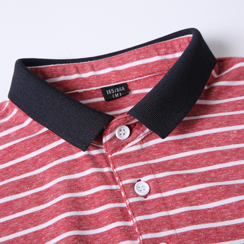 High Quality Polos Men Cotton 2019 Summer New Short Fashion Korean Style Striped Polo Shirts Male Quick Dry MuLS Brand Red Grey 4