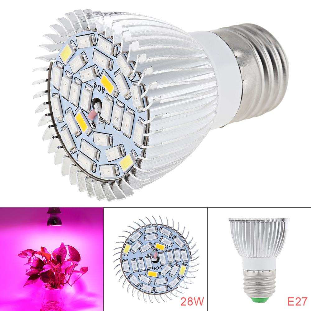 1500lm E27 24W SMD LED Grow Light Kit Vegetable Flower Lamp Plant Red And Blue