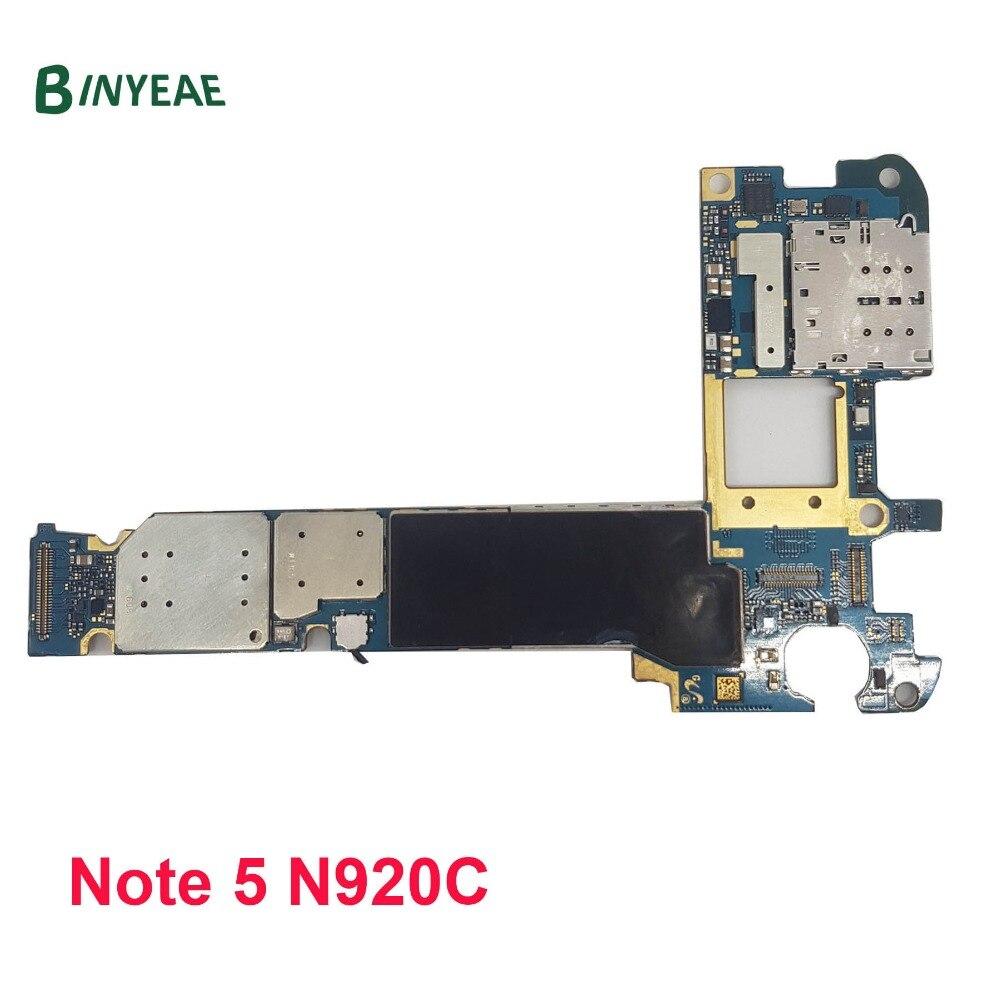 BINYEAE Original N920C Unlocked Main Motherboard 32GB Replacement For Samsung Galaxy Note 5 N920C