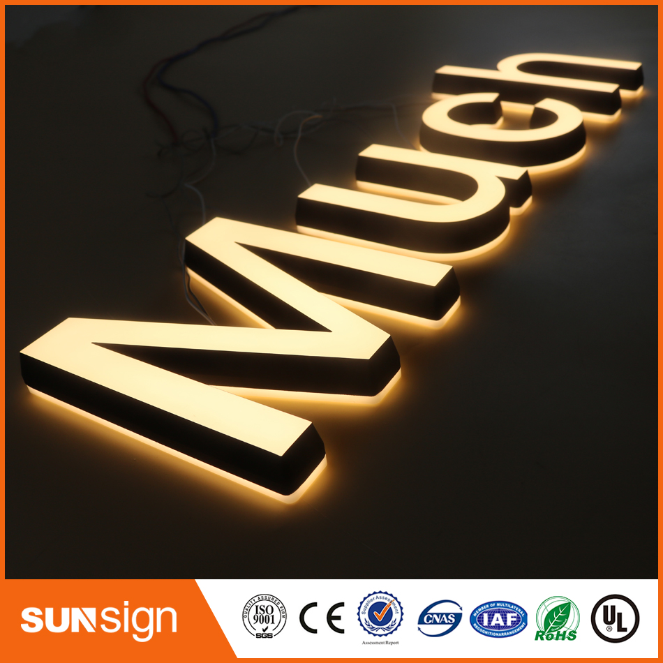 3D Lighting Acrylic Mini LED Channel Letter Sign / Bending Machine Making Acrylic Face Lighting Letters