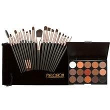 20pcs Makeup Brushes 15 Colors Shimmer Matte Eye shadow Professional Makeup Eyeshadow Palette Beauty Make up Set