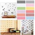 Moda 12 Colores Estrellas Pegatinas de Pared Niños Habitación Del Bebé, DIY Arte de La Pared Home Decor Sticker #87379