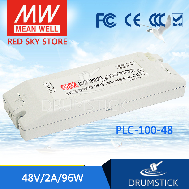 цена на Advantages MEAN WELL PLC-100-48 48V 2A meanwell PLC-100 48V 96W Single Output Switching Power Supply