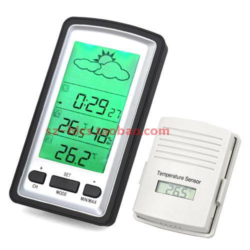 Wireless electronic indoor outdoor thermometer hygrometer temperature and humidity meter belt sensor