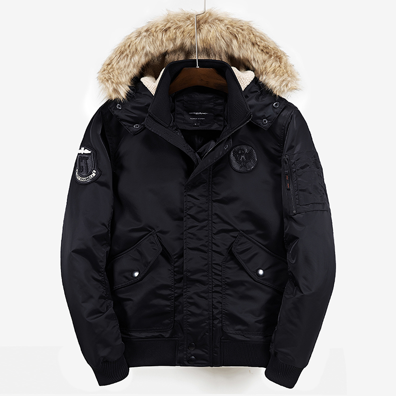 Polyester Winter Flight Jacket Coat Jackets And Coats For Men Thick Warm Fashion Casual Embroidery Logo Men Military Air Parka hot sale winter jacket men fashion cotton coat warm parka homme men s causal outwear hoodies clothing mens jackets and coats