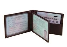 Vintage genuine leather credit card holder business cards driver license passport mens deisgn wallets Certificate holder J7169