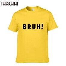 83cf464e7d Tarchia hombres Camiseta básica bruh impreso algodón o Masajeadores de  cuello slim fit Hombre moda T
