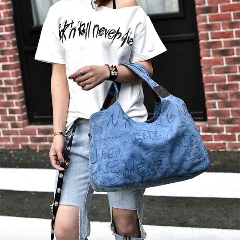 Canvas Tote Bag Handbags Designer Large Capacity Shoulder Bags Lady Letter Messenger Bag Bolsas