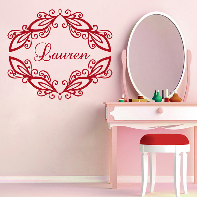 Personalized Custom Name Wall Stickers Girls Nursery Vinyl Decal - Custom vinyl stickers for girls