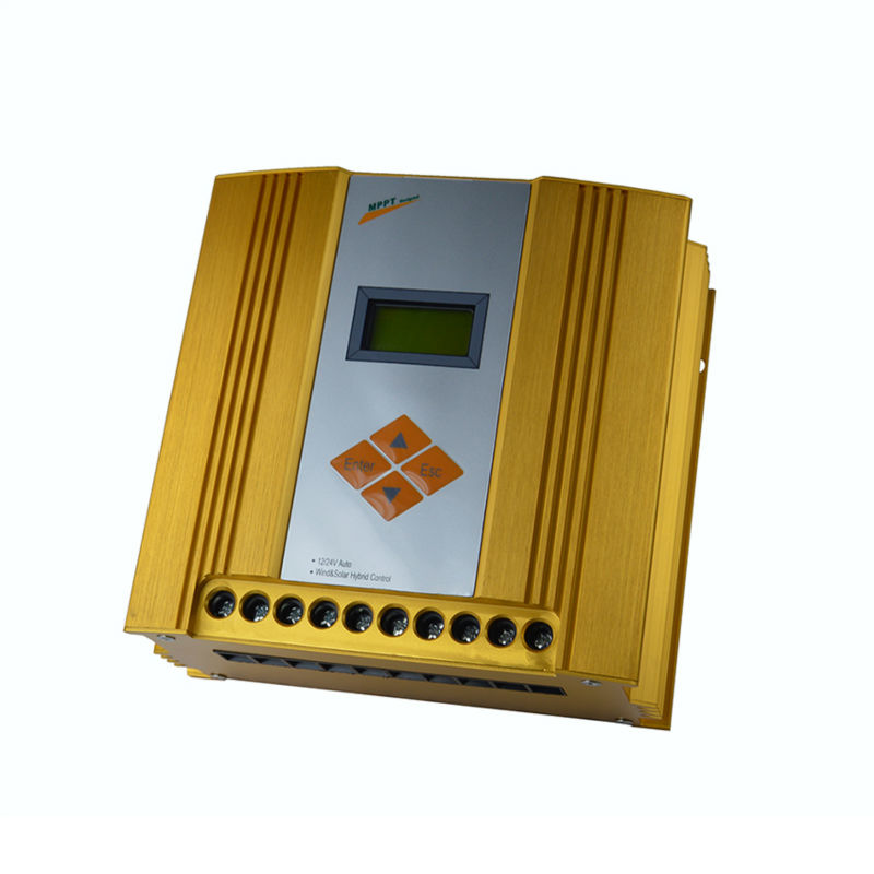 MAYLAR@ 12V 24V Auto Hybrid MPPT Controller,LCD Display,Wind Turbine(100W-600W)+Solar Panel(150W-360W) wind and solar hybrid controller 600w with lcd display charge controller for 600w wind turbine and 300w solar panel 12v 24v