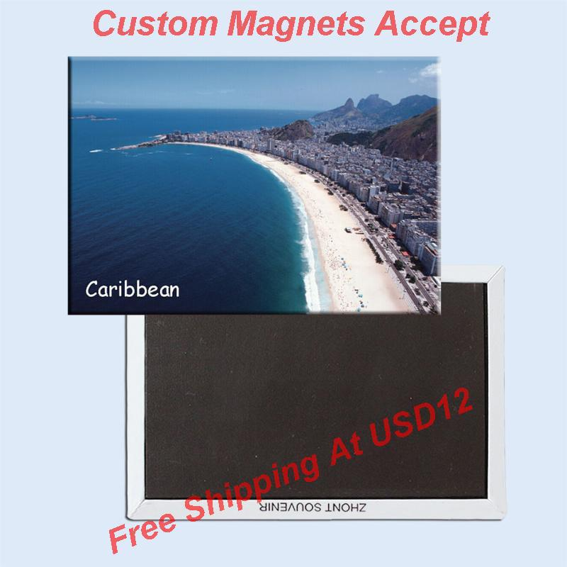 Caribbean Fridge Magnet 20010;USA Travel Magnets Gifts 78*54mm;Order your personal souvenirs