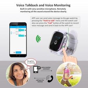 Image 5 - Akıllı saat çocuklar yaşlı için T58 Smartwatch SIM GPS akıllı takip cihazı uzaktan bulucu cihazı için bebek yaşlı akıllı saat IOS Android için