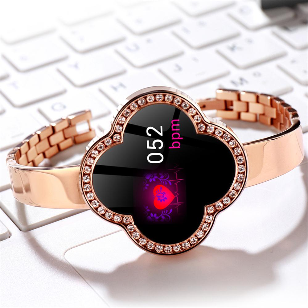 2019 Sport Bracelet montre femmes dame LED étanche Bracelet intelligent fréquence cardiaque pression artérielle podomètre horloge pour Android iOS - 3