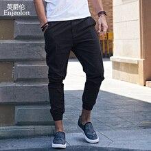 Marca Enjeolon, Pantalones rectos largos de primavera, pantalones de chándal para hombre, pantalones casuales sólidos 3XL, pantalones casuales delgados de calidad para hombre K6252