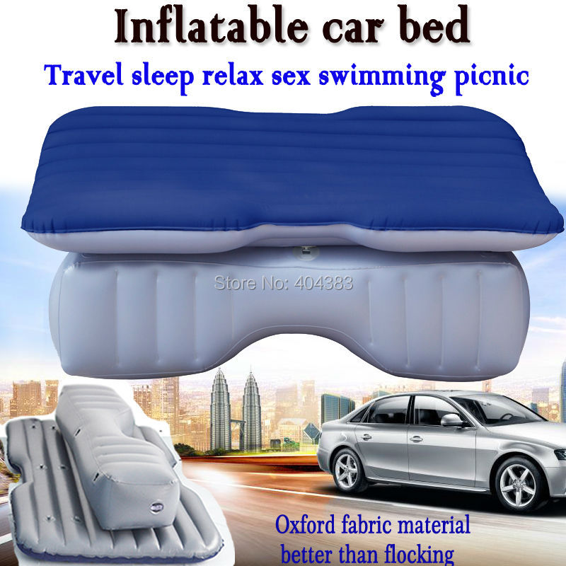 dark blue good quality Universal Car Travel Inflatable Mattress Car Inflatable Bed Air Bed Cushion Thickening Oxford fabric waterproof fabric mountable umbrella bag holder for car use dark blue cream